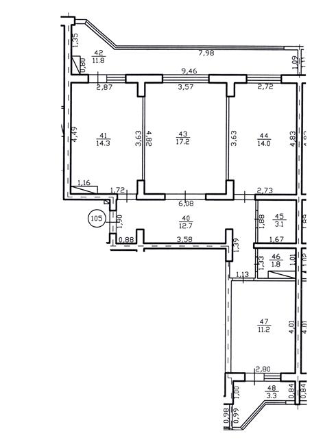 Apartament 3 camere in Chisinau 89,4 m²