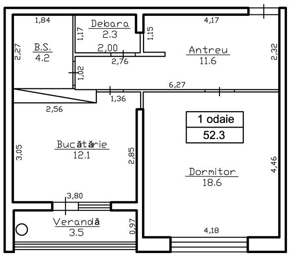 Ap. 2 camere 52.0 m² - 26936 Euro - ap.72