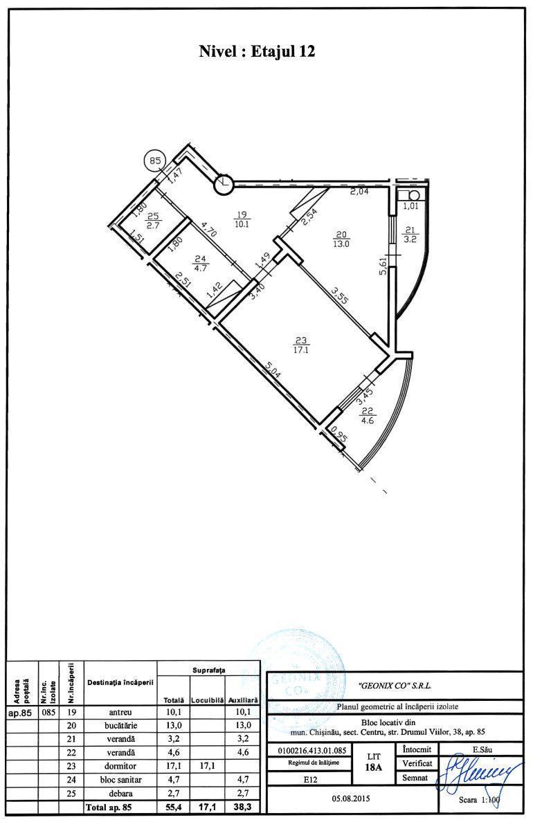 Apartamente cu 1 cameră pe str. Drumul Viilor 38 (versiunea alba)